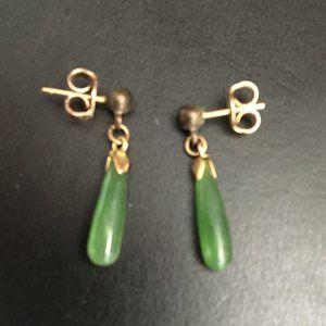 Vintage Green Dangle Earrings
